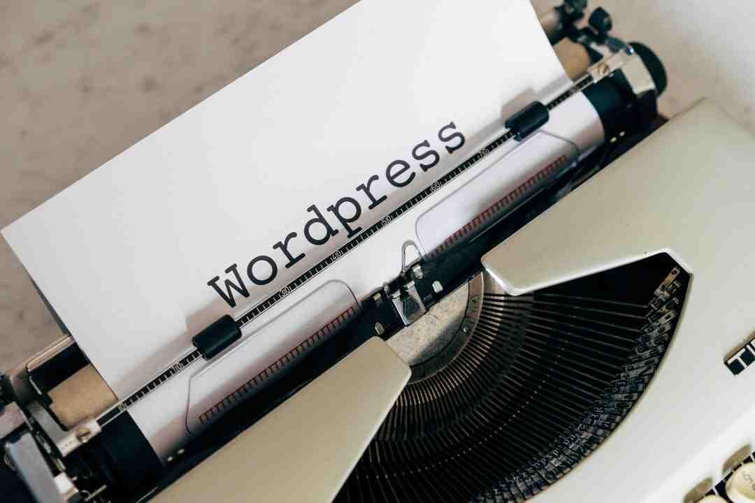 Comment marche wordpress